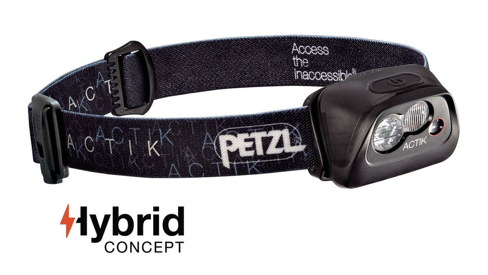 Petzl ACTIK - BLACK (Čelová svítilna)